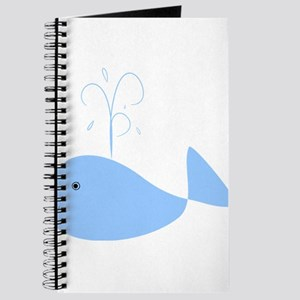 Chubby Pale Blue Whale Journal