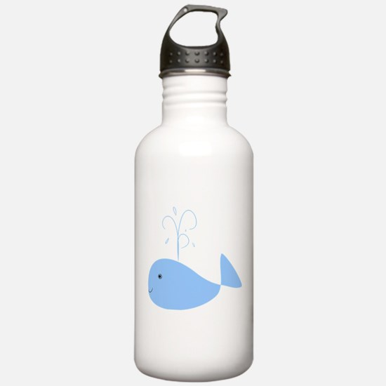Chubby Pale Blue Whale Water Bottle