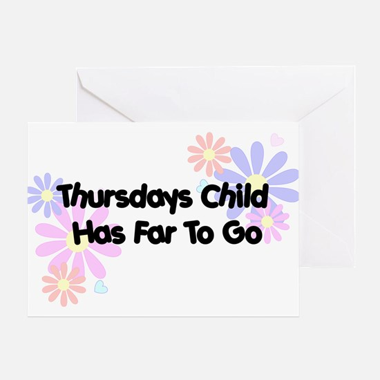 Thursdays Child Greeting Card