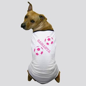 Soccer Girl Personalized Dog T-Shirt
