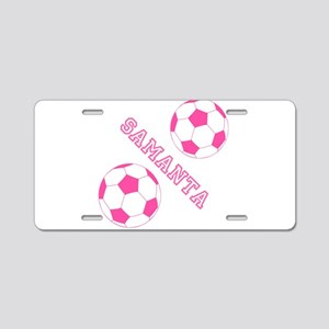Soccer Girl Personalized Aluminum License Plate
