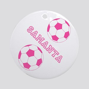 Soccer Girl Personalized Ornament (round)