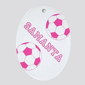 Soccer Girl Personalized Ornament (Oval)