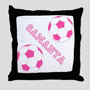 Soccer Girl Personalized Throw Pillow