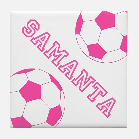Soccer Girl Personalized Tile Coaster