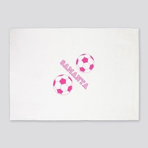 Soccer Girl Personalized 5'x7'Area Rug