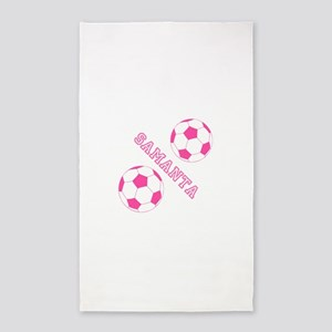 Soccer Girl Personalized Area Rug