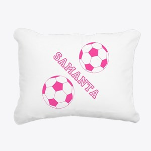 Soccer Girl Personalized Rectangular Canvas Pillow
