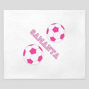 Soccer Girl Personalized King Duvet