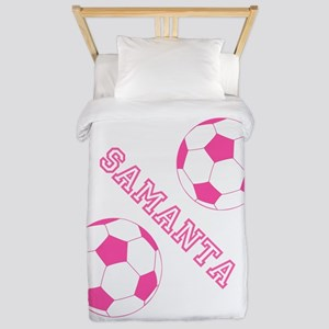 Soccer Girl Personalized Twin Duvet
