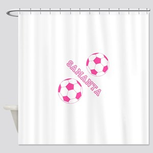 Soccer Girl Personalized Shower Curtain