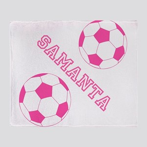 Soccer Girl Personalized Throw Blanket