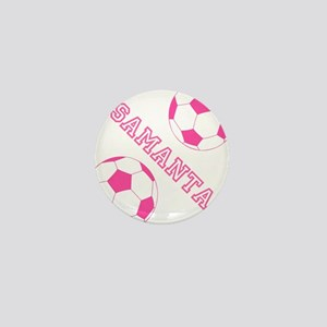 Soccer Girl Personalized Mini Button