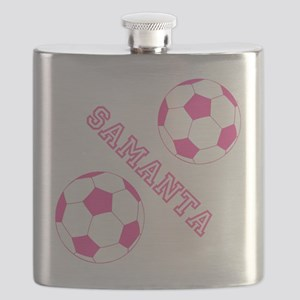 Soccer Girl Personalized Flask