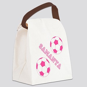 Soccer Girl Personalized Canvas Lunch Bag