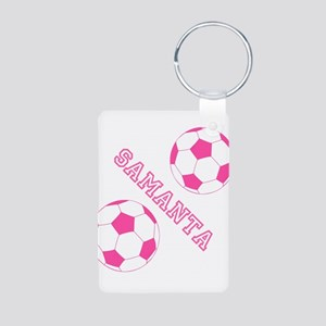 Soccer Girl Personalized Keychains