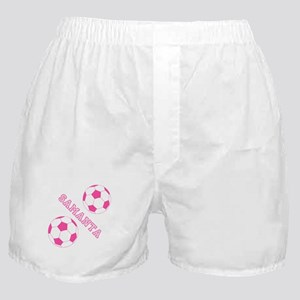 Soccer Girl Personalized Boxer Shorts