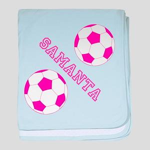 Soccer Girl Personalized baby blanket