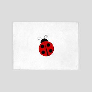 Kids Theme Ladybug 5'x7'Area Rug