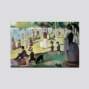 Sunday Afternoon by Seurat Rectangle Magnet