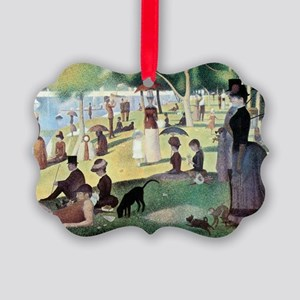 Sunday Afternoon by Seurat Picture Ornament