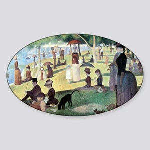 Sunday Afternoon by Seurat Sticker (Oval)