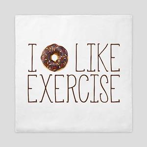 I Donut Like Exercise Queen Duvet