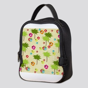 Tropical Island Palm Trees Hibiscus Pattern Neopre
