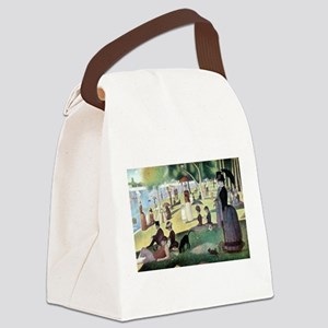Sunday Afternoon by Seurat Canvas Lunch Bag