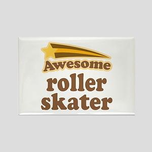 Awesome Roller Skater Rectangle Magnet