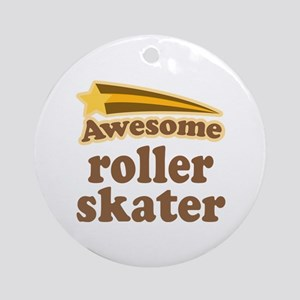 Awesome Roller Skater Ornament (Round)