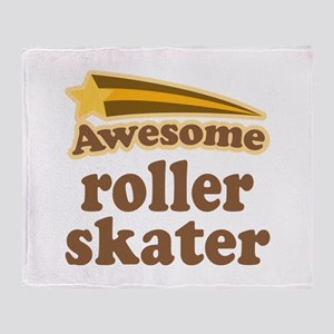 Awesome Roller Skater Throw Blanket