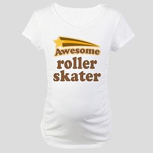 Awesome Roller Skater Maternity T-Shirt