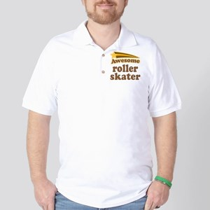 Awesome Roller Skater Golf Shirt