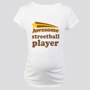 Awesome Streetball Player Maternity T-Shirt