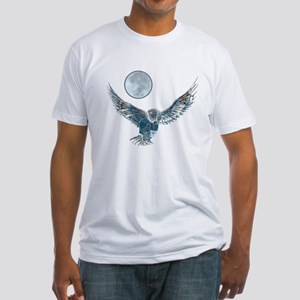 Snowy Owl Fitted T-Shirt