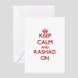 Keep Calm and Rashad ON Greeting Cards