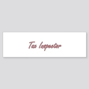 Tax Inspector Artistic Job Design Bumper Sticker