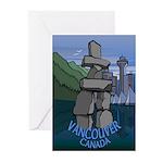 Vancouver Souvenir Greeting Cards 20 Pack Inukshuk