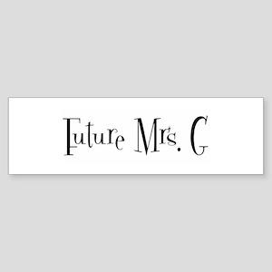 Future Mrs. G Bumper Sticker