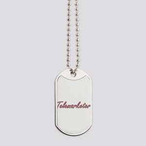 Telemarketer Artistic Job Design Dog Tags