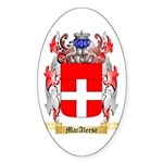 MacAleese Sticker (Oval 50 pk)