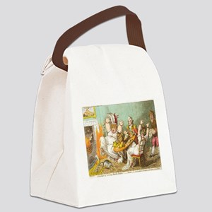 Scared on Halloween Canvas Lunch Bag