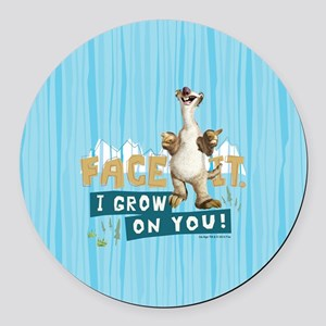 Ice Age Sid Grows on You Round Car Magnet