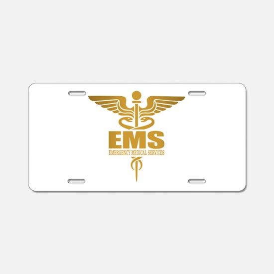 EMS gold Aluminum License Plate