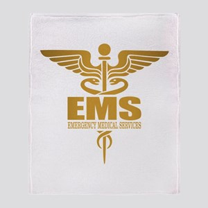 EMS gold Throw Blanket