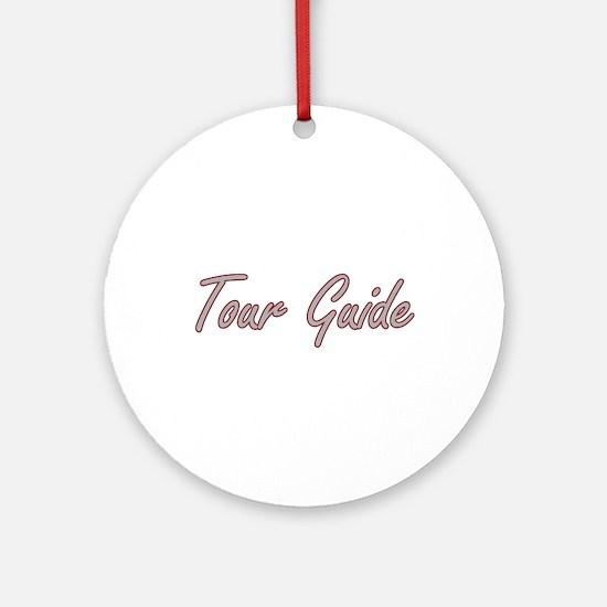 Tour Guide Artistic Job Design Ornament (Round)