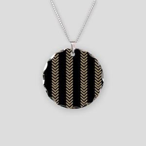 Black Gold Chevron Arrows Necklace