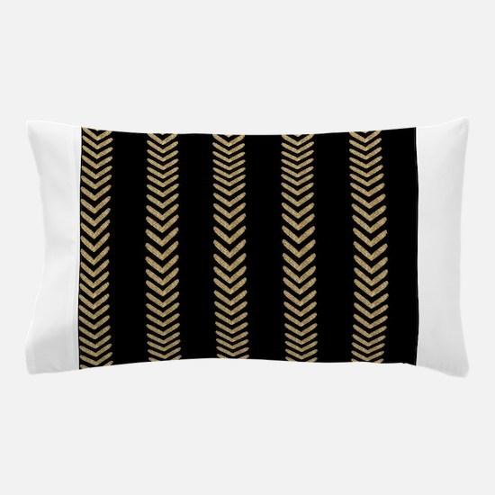 Black Gold Chevron Arrows Pillow Case