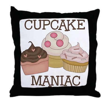 Cupcake Maniac Throw Pillow